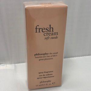 New philosophy fresh cream soft suede fragrance